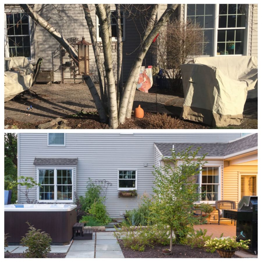Before And After Chestnut Hill Landscape Contractors
